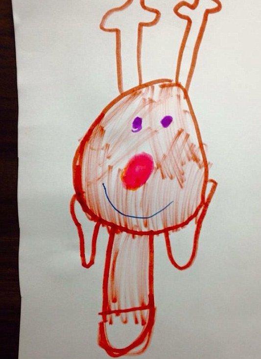 Drawn reindeer kid Christmas Rude Up Drawings