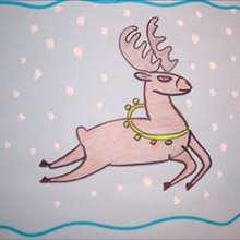 Drawn reindeer kid Reindeer Christmas TO Drawing DRAW