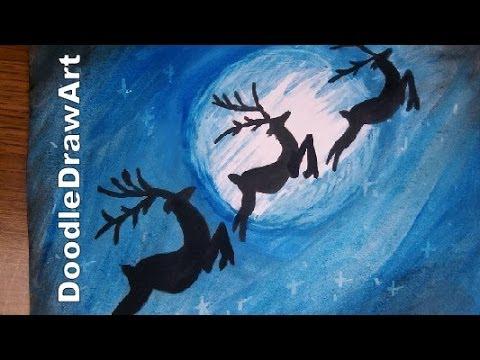 Drawn reindeer kid In Reindeer Scene the Step