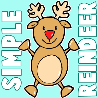 Drawn reindeer kid Preschoolers for Lessons and Archives