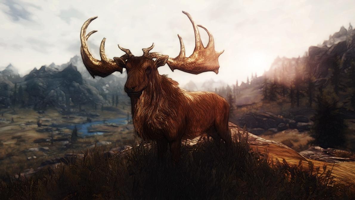 Drawn reindeer majestic DeviantArt Deer by Majestic Creathor4005
