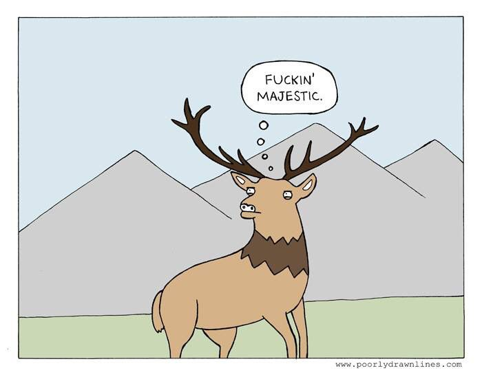 Drawn reindeer majestic Poorly Funny  Lines Drawn