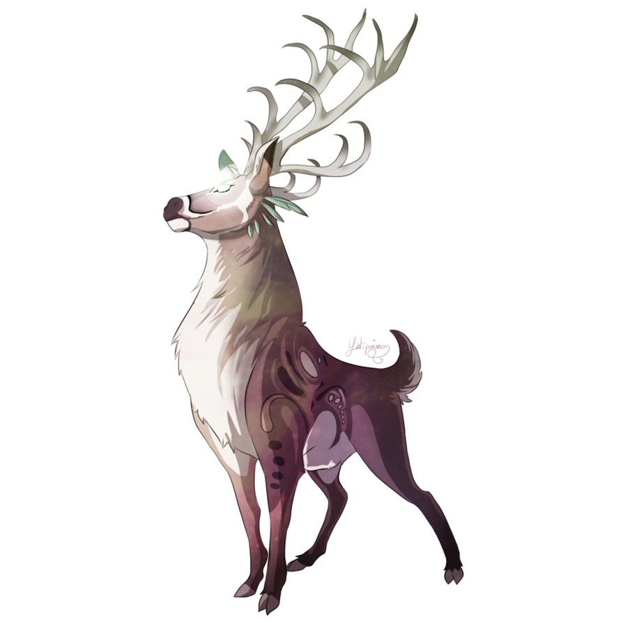 Drawn reindeer majestic Commission Deer Stentind Majestic by