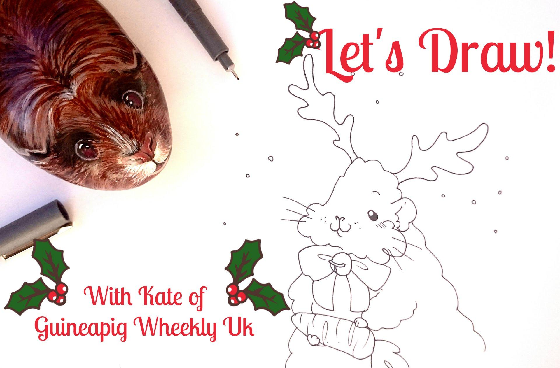 Drawn reindeer merry christmas Let's drawing Reindeer Merry Guineapig