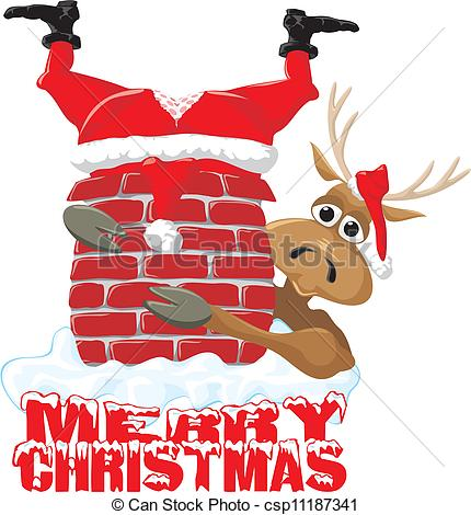 Drawn reindeer merry christmas Of EPS reindeer christmas &