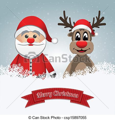 Drawn reindeer merry christmas Of Clipart christmas clause merry