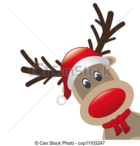 Drawn reindeer nosed Illustrations Drawings 26339 Coloring Images