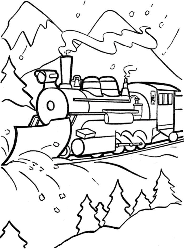 Drawn reindeer polar express Train express best page train