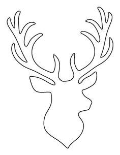 Drawn reindeer printable Clipart Deer Pattern Head Pinterest