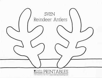 Drawn reindeer printable Antler Antler + Crown Elsa