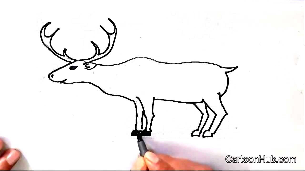 Drawn reindeer raindeer How Step children for kids