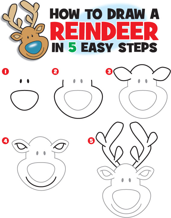 Drawn reindeer raindeer How Reindeer a Kid to