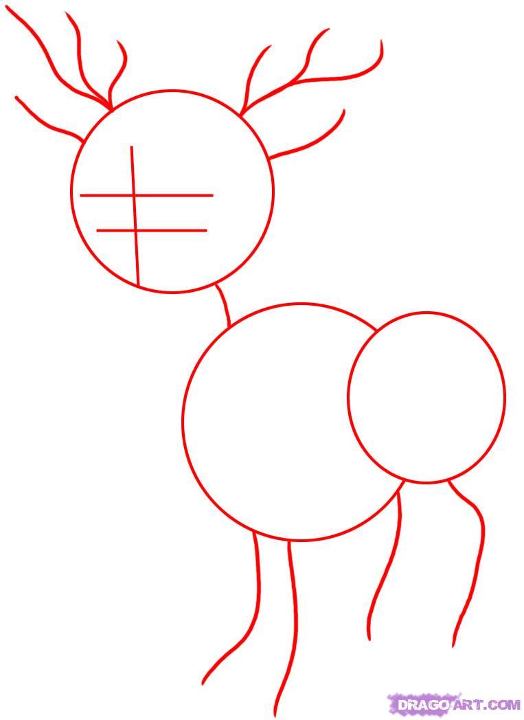 Drawn reindeer reindeer head How how to by Reindeer