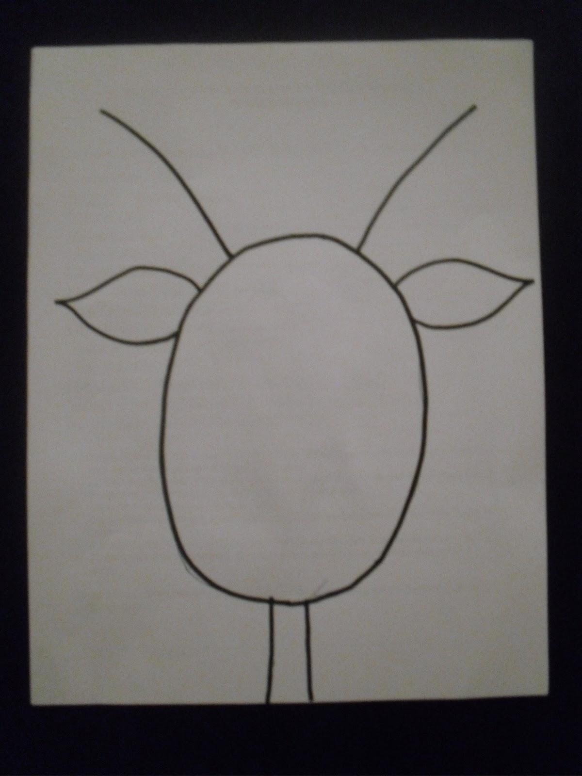Drawn reindeer reindeer head Of Draw a of towards
