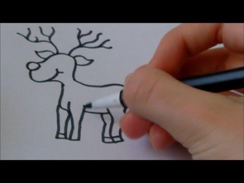 Drawn reindeer rodolfo To draw' 'How YouTube #28