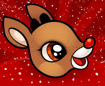 Drawn reindeer rodolfo Seasonal Step images by on