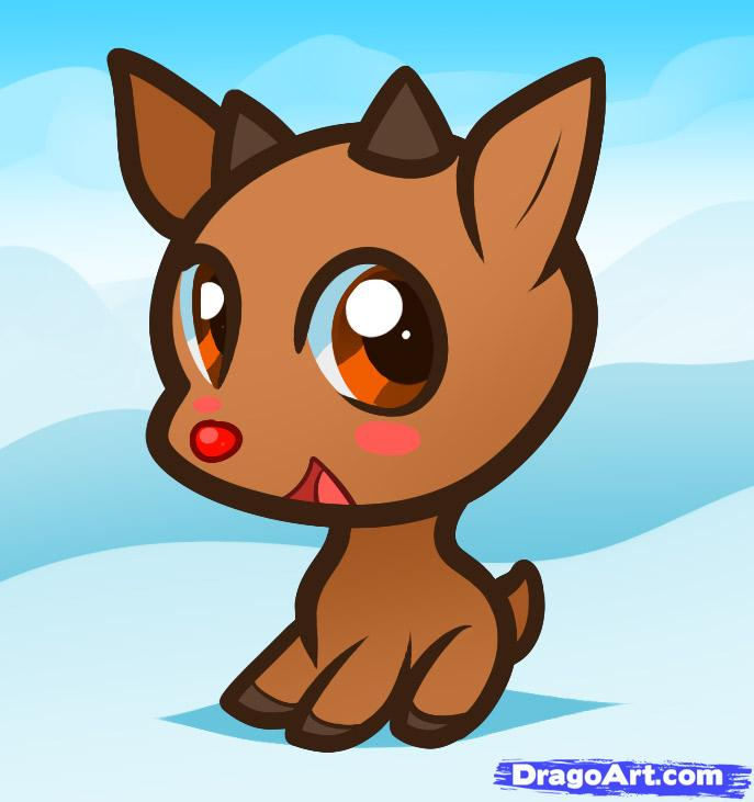 Drawn reindeer rodolfo For kids How for Rudolph