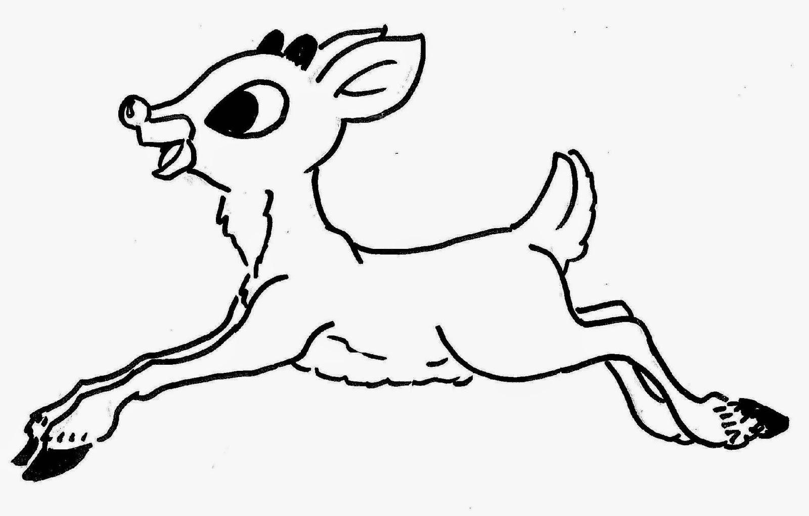 Drawn reindeer rodolfo In In Pages Reindeer Rudolph