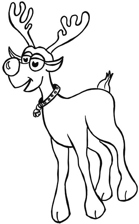 Drawn reindeer rudolf By Reindeers Red Draw How