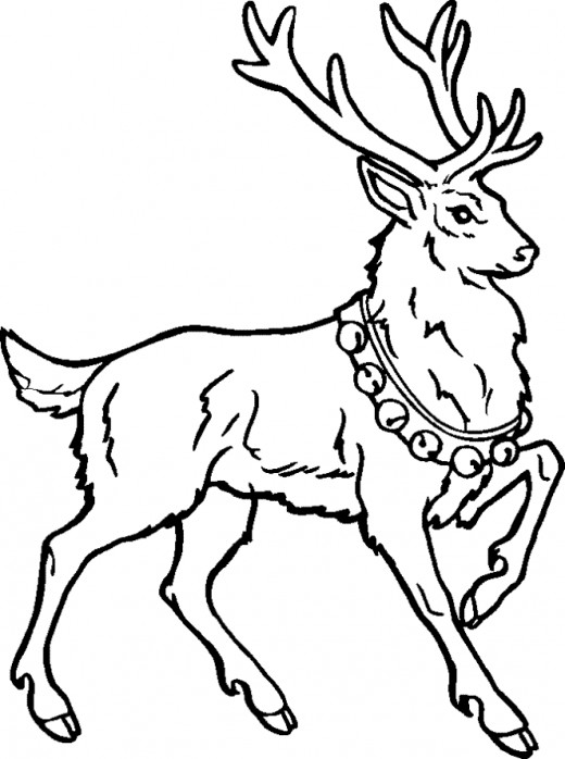 Drawn reindeer rudolf And Reindeer and Online Coloring