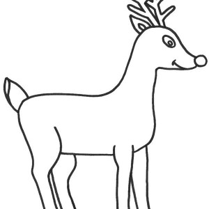 Drawn reindeer rudolf Nosed the Draw How