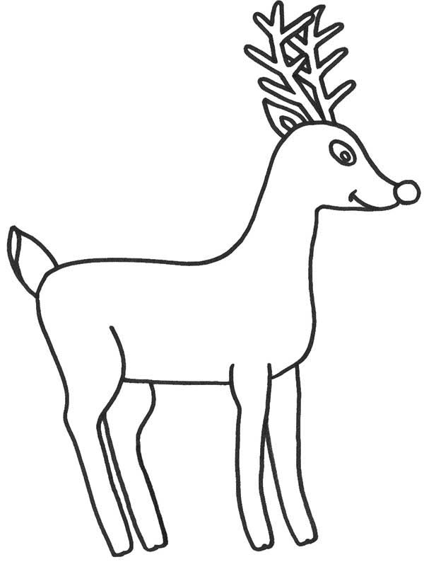 Drawn reindeer rudolph the red reindeer Color Rudolph Page Nosed Red