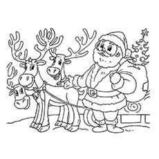Drawn reindeer santa claus Ones Friends Santa Claus 30