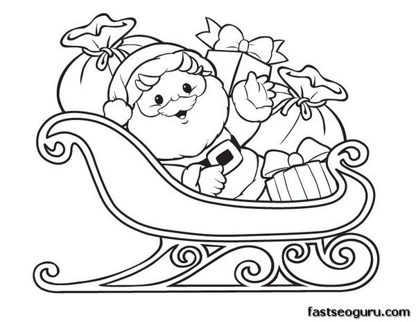 Drawn reindeer santa claus Archives coloring gobel photos santa