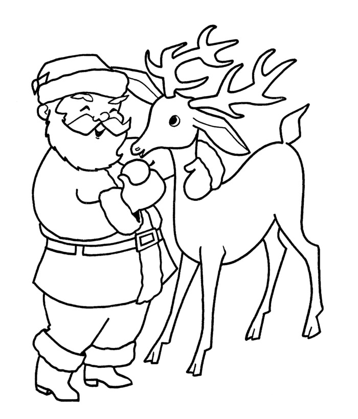 Drawn reindeer santa claus  60+ Santa Claus Best