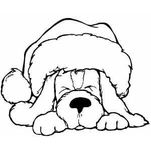 Drawn reindeer santa hat Coloring sheets christmas santa santa
