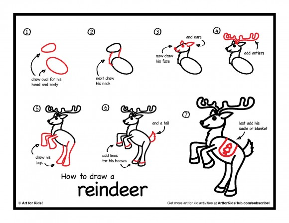 Drawn reindeer simple Watch how a instructions Simple