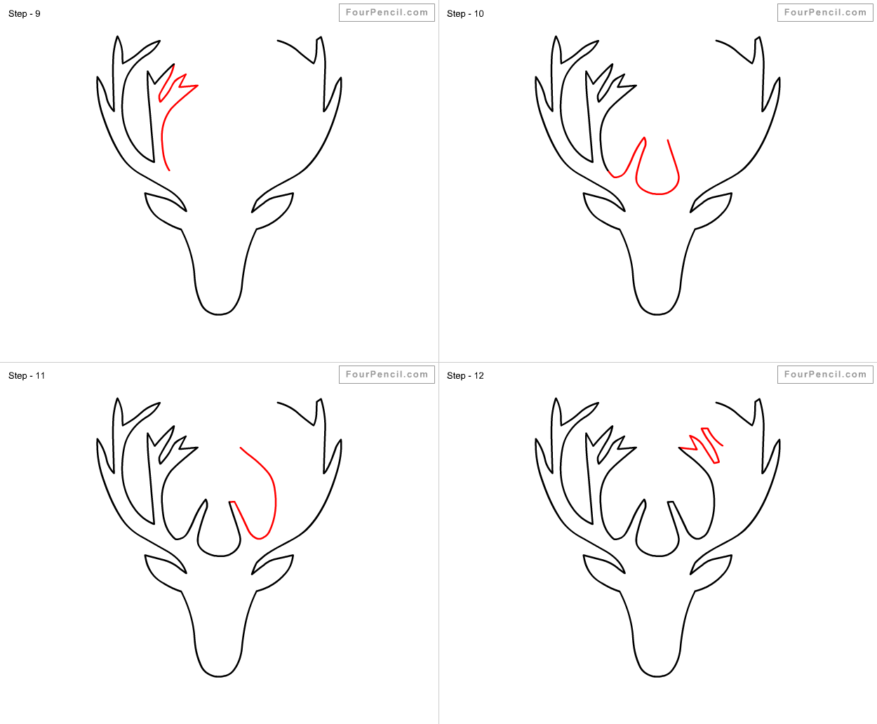 Drawn reindeer step by step By Drawing Step drawing By