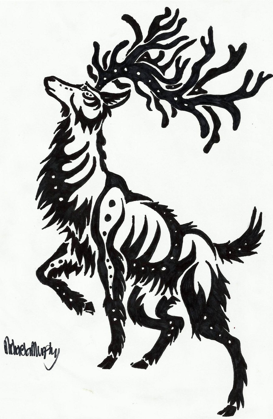 Drawn reindeer tribal Design com Tattoobite Tattoo Deer