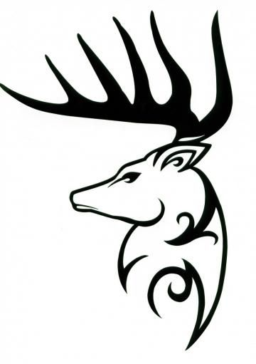 Drawn reindeer tribal Decal animals best tribal Deer