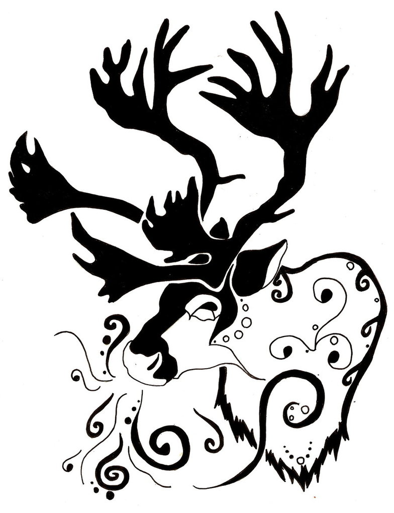 Drawn reindeer tribal On DeviantArt whisper by A