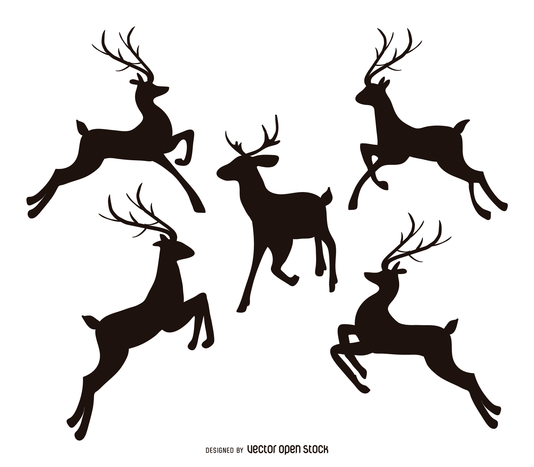 Drawn reindeer vector Reindeer Graphics Vector Reindeer to