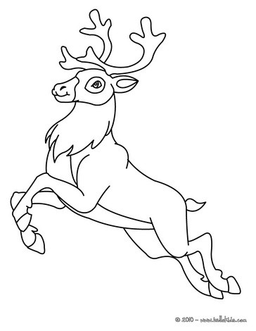 Drawn reindeer wild christmas Crafts Coloring and  coloring