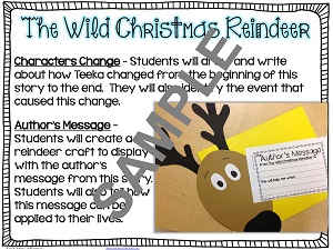 Drawn reindeer wild christmas Teacher's Author Sample Resources from