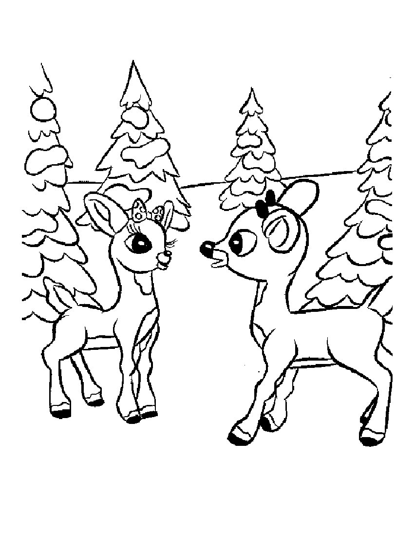 Drawn reindeer wild christmas Pages Stock Wild Reindeer Christmas