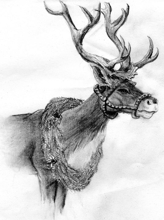 Drawn reindeer xma Card by Arbre on DeviantArt