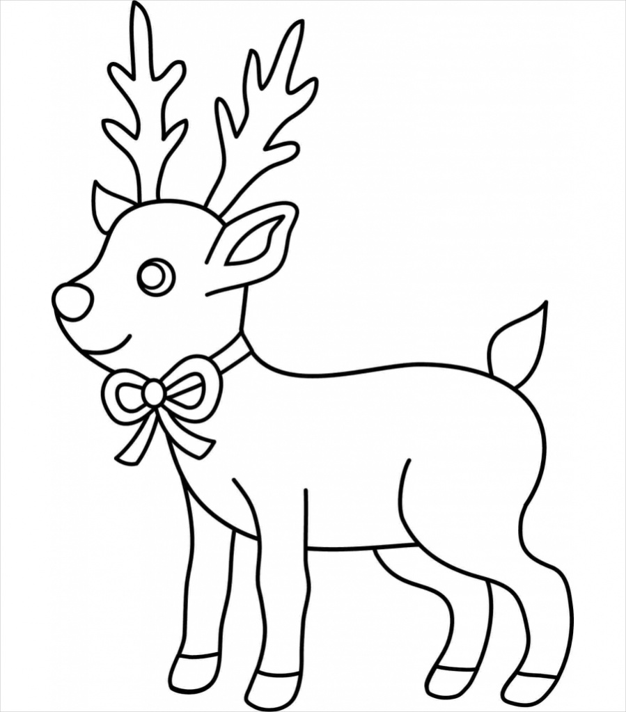 Drawn reindeer xma Reindeer Illustrator Download Christmas AI