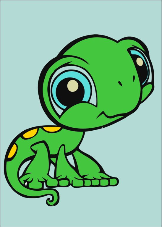 Drawn reptile baby Cartoon big 15 little images
