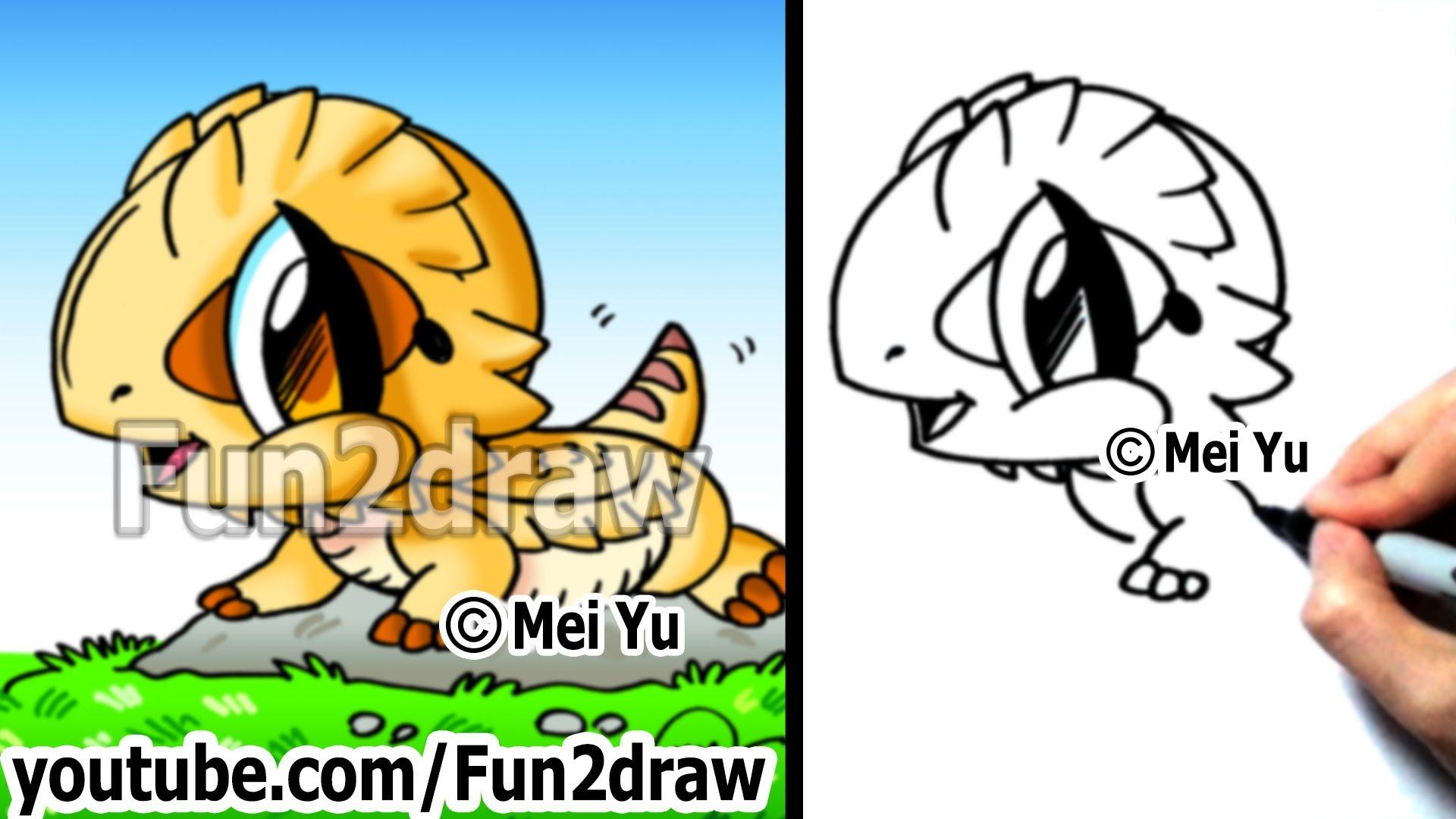 Drawn reptile baby Draw Draw Cartoons How to
