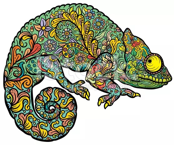 Drawn reptile baby By Tattoo more! Chameleon on