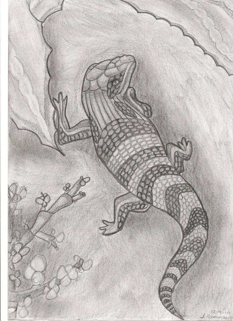 Drawn reptile By on Blue DeviantArt tongue