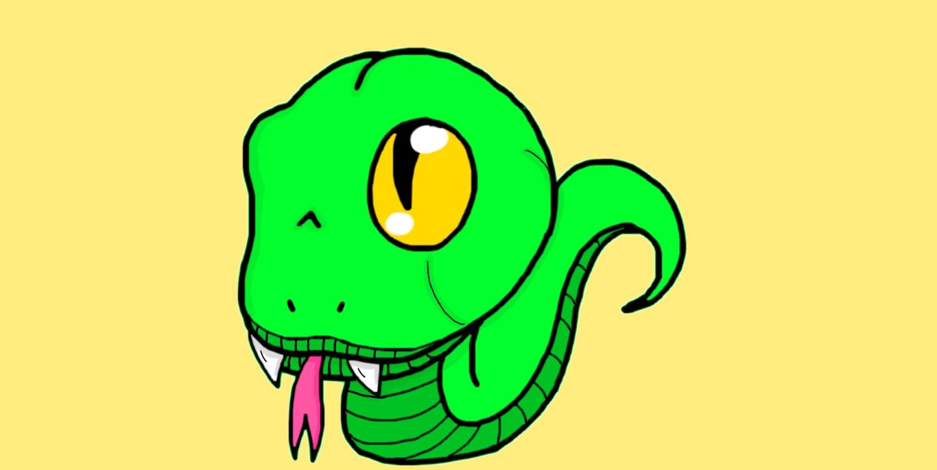 Drawn reptile chibi Drawing Snake Drawing 19 Chibi