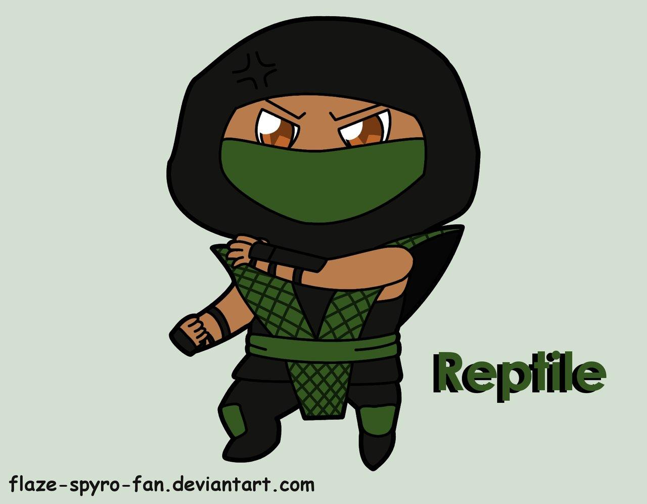 Drawn reptile chibi DeviantArt Reptile by on Crimson