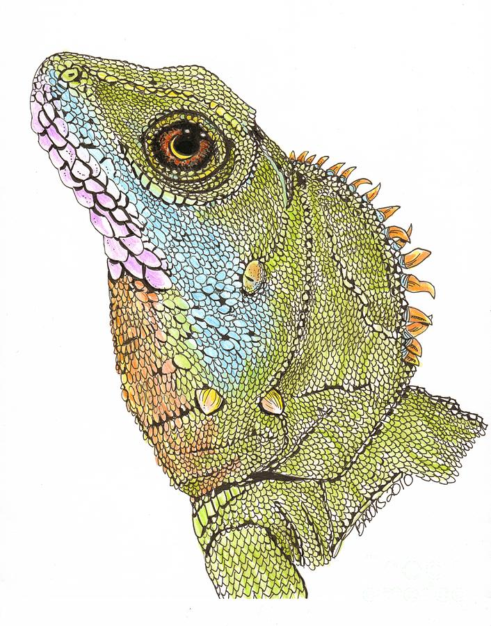 Drawn reptile chinese water dragon Water Brooks Water by Dragon