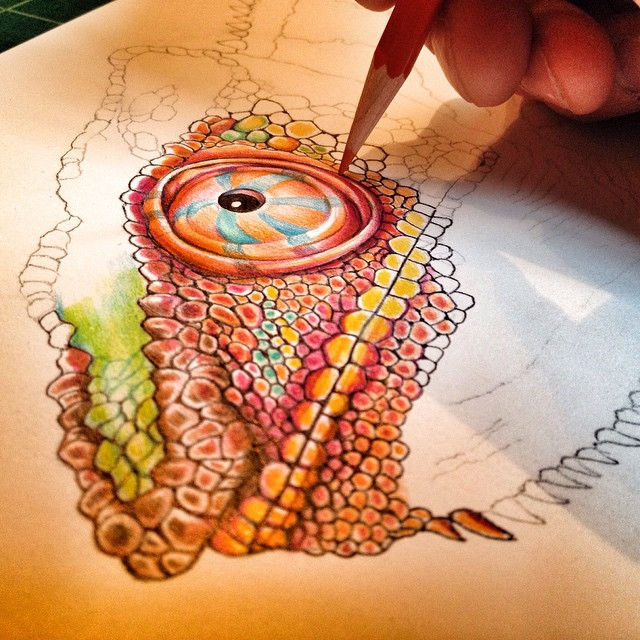 Drawn reptile colorful Lizard to #chameleonlovers Starting color