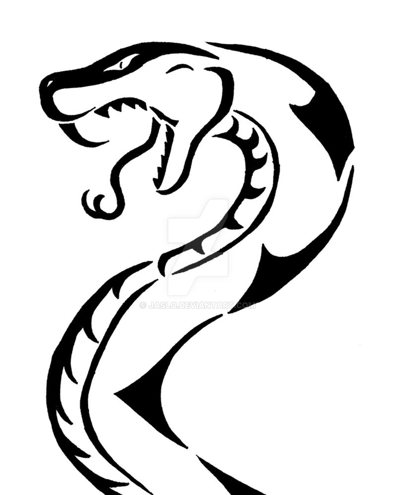 Drawn reptile tribal DeviantArt  Snake by 1